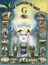 From Darkness To Light Print masonic poster freemason artwork ring