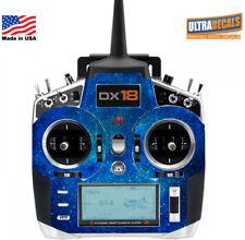 Blue Space Nebulous Spektrum DX18 Transmitter Skin Wrap Decal Radio