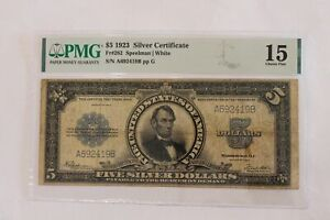 1923 5.00 Silver Certificate Five Dollar PMG15 FR282