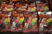 EXPLODING KITTENS COLLECTOR CONSTRUCTION BUILDABLE MINI-FIGURINE LOT +BONUS CARD