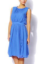 Tibi Blue Silk Chiffon Dress