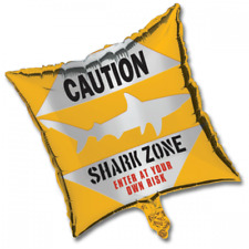 Shark Splash Mylar Balloon - Caution (1)