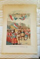 C. 1900 Chromolithograph Stipple Print Ogden Dutch Surrender New Amsterdam 1664
