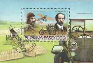 Timbre Transports Avions Voitures Burkina Faso BF28 o (39620R)