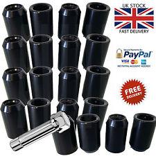 20x BLACK STEEL WHEEL TUNER NUTS M12x1.5 fit HONDA MAZDA TOYOTA MITSUBISHI FORD