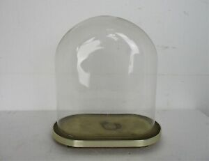 "Antique Victorian Oval Hand Blown Glass Globe Dome Doll Clock 13.77"" H 12.2""W"