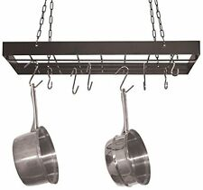 Kitchen Hanging Utensil Dish Pot Rack Square Holder Storage Organizer Pans +Hook
