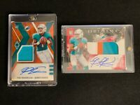 2020 Tua Tagovailoa HUGE LOT of 19 RPA Graded Jersey Patches #'d Miami Dolphins