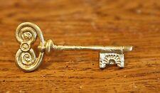 Solid Brass Vintage Skeleton Key Cabinet Pull Antique Kitchen Dresser Ornate