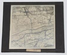 Vietz, Landkarte, antikes Lichtbild Glasplatte ca. 1925 #E861