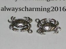 """SILVER TBN 15 """"CRABS"""" CHARMS SEATTLE WATER FRONT MARKET PLACE / BRACELET JEWELRY"""