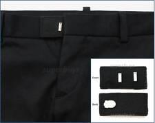 Black Hook & Bar Waist Extender Closure Pants Shorts Trouser Line Widen Expander
