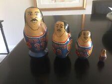 1994 New York knicks. Patrick Ewing/ Team Russian  Nesting Dolls. Signed Mocka