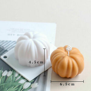 DIY Pumpkin Halloween Silicone Mould 3D Candle Crafts Soap Chocolate Baking Mold