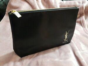 YSL / Yves Saint Laurent Black Patent Cosmetics Pouch / Clutch Bag 💓