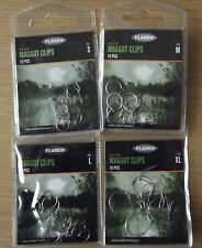 Post Free Fladen Maggot Clips 10 per pack  in sizes small, medium, large, and xl