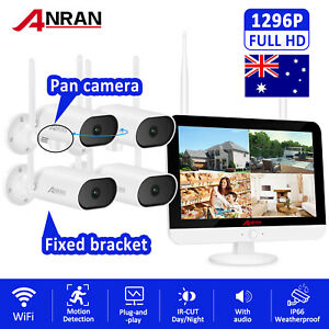 "ANRAN 1080P WIFI Wireless Outdoor Home Security Camera System 12"" HD Monitor APP"