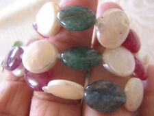 Halskette SWZ Perle mit Bergkristall bunt in Silber 925er rhodiniert Ungetragen