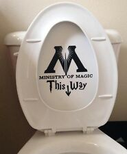 Ministry of Magic Harry Potter Bathroom Quote Decal Sticker deathly hallow #hp