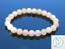 Morganite Natural Gemstone Bracelet 7-8'' Elasticated Healing Stone Chakra Reiki
