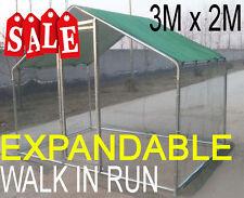 Chicken Run 3m X 2m Walk in Coop for Poultry Dog Rabbit Hen Cage Pen Metal Door