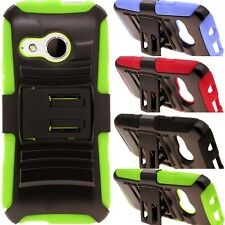 Holster Stand Combo Belt Clip Hybrid Phone Cover Case for HTC One Remix / Mini 2