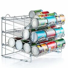 Chrome Stackable Can Organizer, Can Rack Holds up to 36 Cans