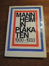 Mannheim in Plakaten. 1900 - 1933  Selten von 1979 Erstausgabe
