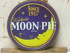 "~ Moon Pie Brand since 1917 ~ 12"" Round Metal Sign food cafe snack diner"