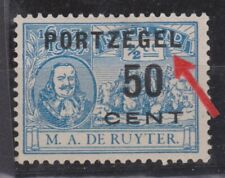 Port 42 MLH PLAATFOUT 87 PM20 NVPH Netherlands Nederland due portzegel