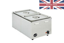 More details for electric bain marie wet & dry heat 1/1gn - ceonline olgbm22 - 2 x half gn pans