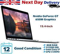 "Apple MacBook Pro 15.4"" Retina Intel Core i7 3rd-G 2.6GHz 8GB RAM 512GB SSD 2012"