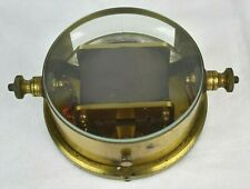 Rare Antique Brass Horizontal Moving-Magnet Galvanometer GPO Pattern Reid Bros
