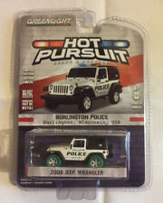 Greenlight 1:64 Hot Pursuit 2009 Jeep Wrangler Burlington Wisconsin GREEN MACHIN