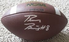 BRAXTON BERRIOS Autographed Wilson Official Size NCAA Football-MIAMI/NE PATRIOTS