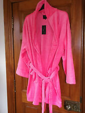PINK/CORAL.. soft dressing gown..NEW LOOK size 20/22 *ABOVE THE KNEE*