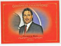 2016 Goodwin Champions HORIZONTAL ROYAL RED Patrick Roy  SSP