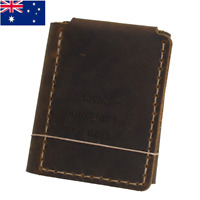 The Secret Life of Walter Mitty Handmade Genuine Leather Men's Bifold Wallet