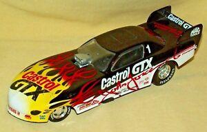 JOHN FORCE FUNNY CAR CASTROL PONTIAC FIREBIRD LOOSE 1 GTX BLACK WHITE FLAMES.