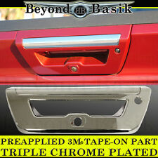 2015 2016 2017 FORD F150 LARIAT Triple Chrome Tailgate Handle COVER Trim overlay