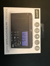 GPX Shortwave Radio 2 AA Batteries Portable AM FM Digital Alarm Clock Speaker