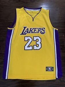 LA LAKERS Los Angeles LeBron James LBJ 23 NBA BASKETBALL Jersey Youth Sz Large