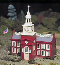 Bachmann Plasticville O Scale Built-Up Structure - Town Hall