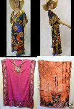 Viscose V-Neck Dresses for Women with Kimono Sleeve