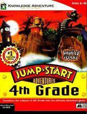 JumpStart 4th Grade Haunted Island PC CD reading math Jump Start Win 7/8 tested