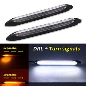 2pcs 12V LED Car Daytime Running Light DRL Daylight Lamp Indicator Turn Lights