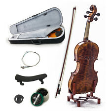 NEW 4/4 Violin Solid Wood High Flame Satin VN303 w Case Bow Rosin String