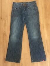 Ladies ESPRIT Blue Jeans Size 28 Fits 10 Loose Fit Craft Faded