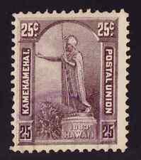 HAWAII SC #47 1883 VF/U 25c KING KAMEHAMEHA, VERY LIGHT CANCEL CV $65.00