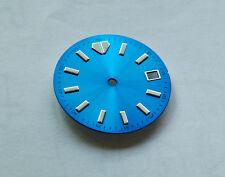 Custom Sky Blue Turtle Bat Diver's Watch Dial for Eta 2824 2836 Movement Mod